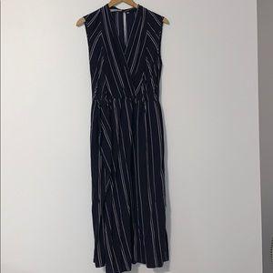 Vince long striped dress Size 8